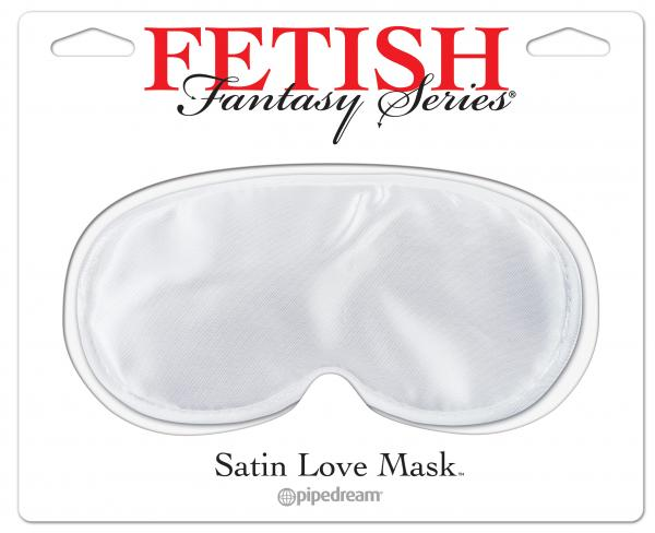 Fetish Fantasy Satin Love Mask White