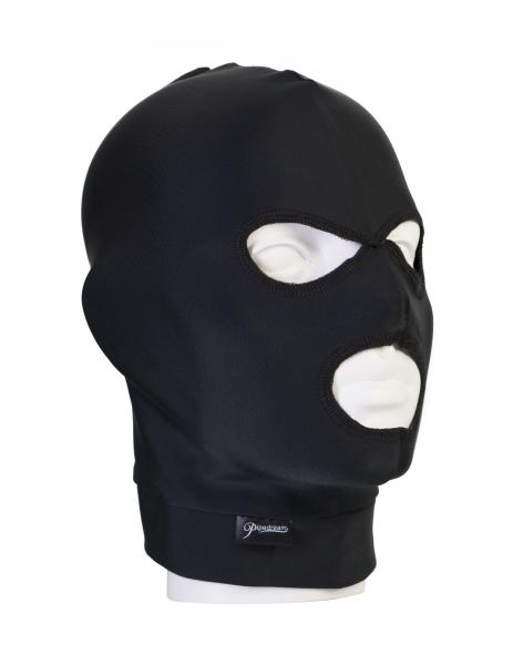 Fetish Fantasy Black Spandex 3 Hole Hood O/S