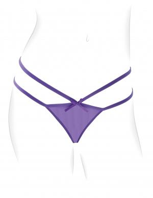 Fantasy For Her Petite Panty Thrill-Her O/S Purple