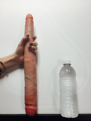 16 Inch Tapered Double Dong -  Beige Dildos PD551721