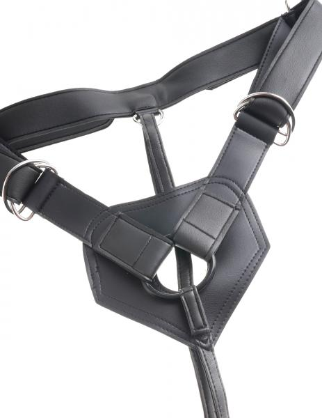 King Cock Strap On Harness 9 inches Dildo Black