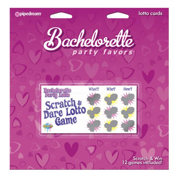 Bachelorette Party Lotto Cards 12 Pack