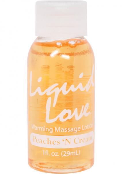 Liquid Love Warming Massage Lotion Peaches N Cream 1oz