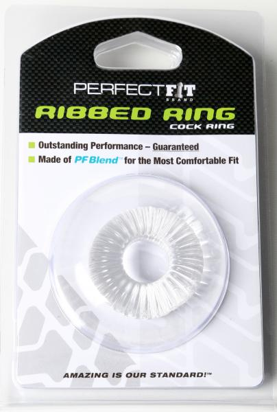 Ribbed Ring Ice Clear