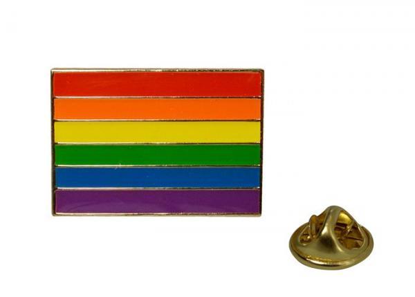 Gaysentials Lapel Pin Rainbow Flag