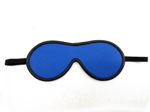 M2M Blindfold Leather Blue O/S