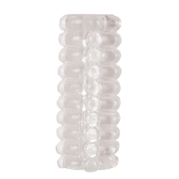 Ribbed Reversible Masturbation Stroker Clear