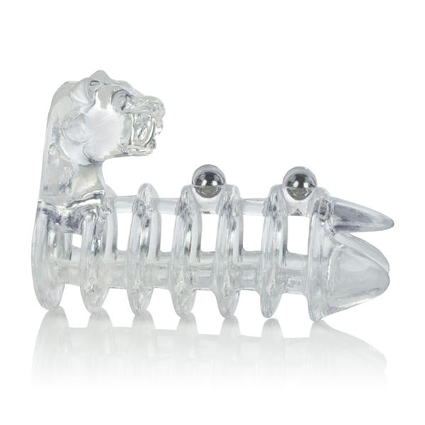 Jaguar Enhancer Ring with Beads Clear