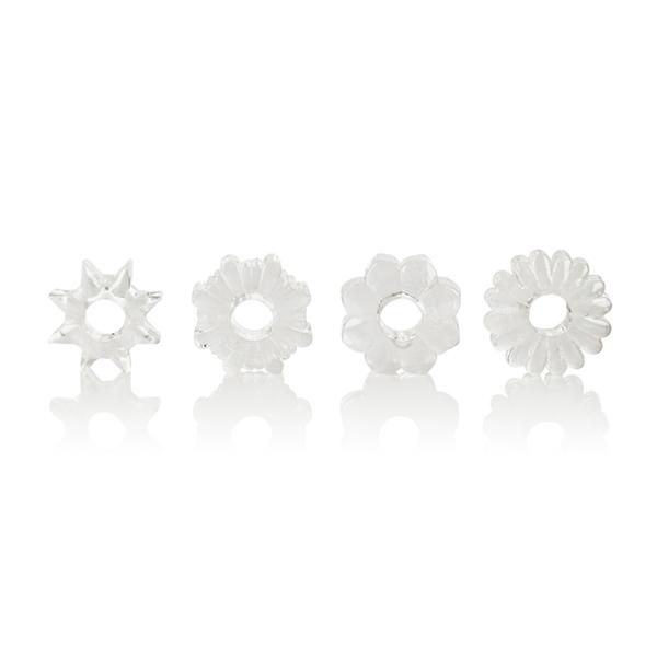 Basic Essentials 4 Pack Clear Rings