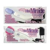 """My Mini Miracle Massager Electric 2 Speed 120 Volt 8"""" - White/Purple"""