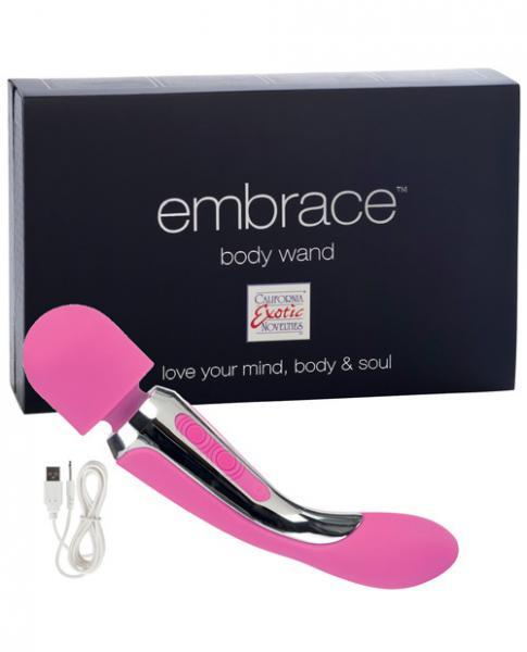 Embrace Rechargeable Silicone Body Wand - Pink