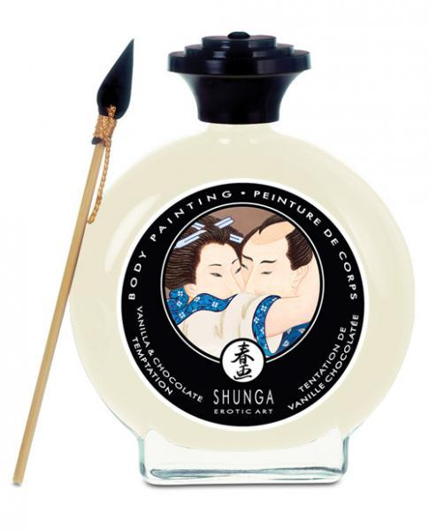 Shunga Edible Body Paint Vanilla & Chocolate Temptation 3.5oz
