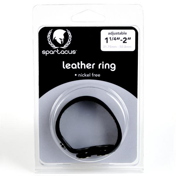 Spartacus Leather Cock Ring Nickel Free Snaps