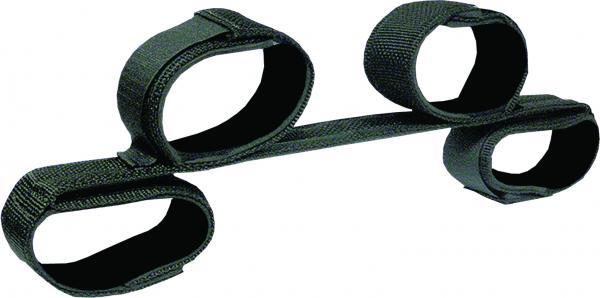 Bondage Bar with Neoprene Velcro Cuffs 24 inches Black