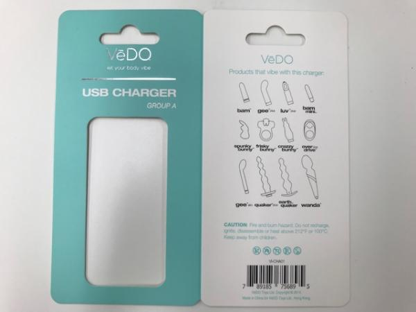Vedo USB Charger A for Bam, Gee Plus, Luvplus, Bam Mini, Spunk, Frisky, Crazzy, Overdrive Vibrators