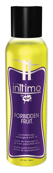 Inttimo By Wet Forbidden Fruit Aromatherapy Massage Oil 4 oz
