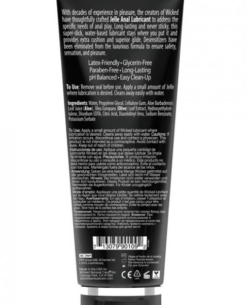 Wicked Jelle Water Based Anal Lubricant 8oz