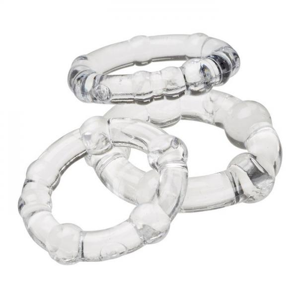Cloud 9 Cockring Combo Beaded Clear