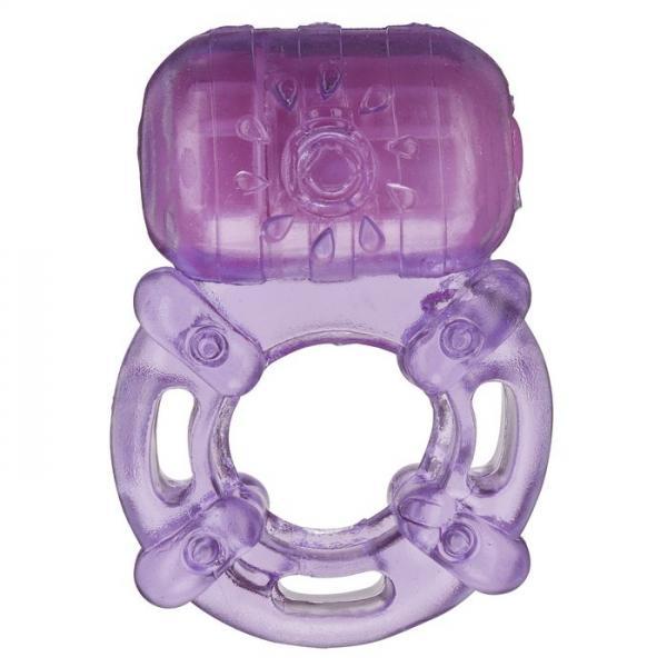 Cloud 9 Pleasure Tickler 5 Speed Ring Purple