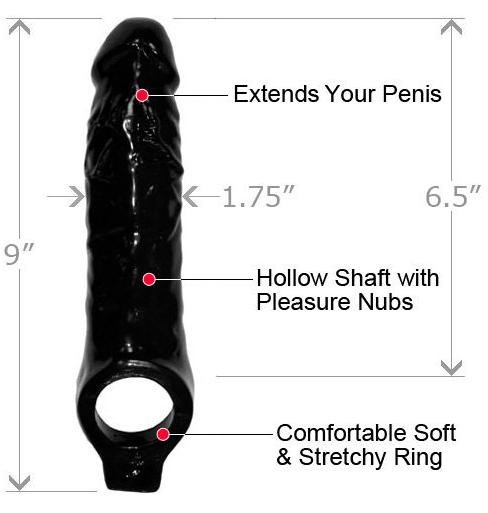 Black Mamba Cock Sheath Penis Extender