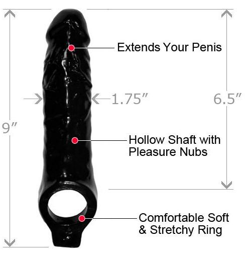 Black Mamba Cock Sheath Penis Extender