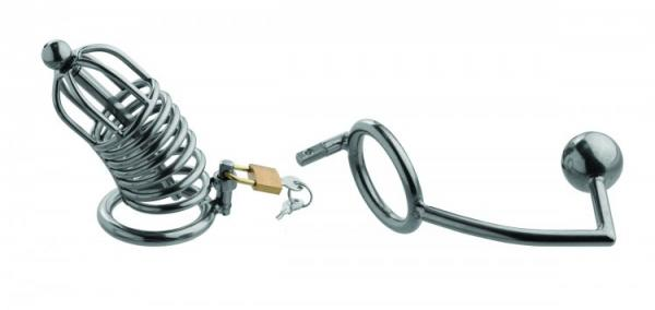 Condemmed Penetration Cage with Anal & Urethral Insertion