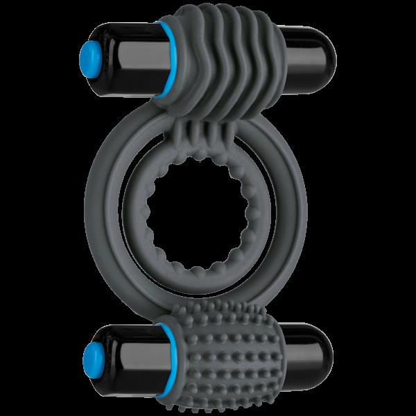 Optimale Silicone Vibrating Double C-Ring Slate