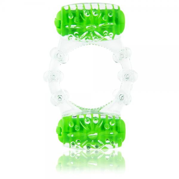 Color Pop Two O Quickie Green Vibrating Ring
