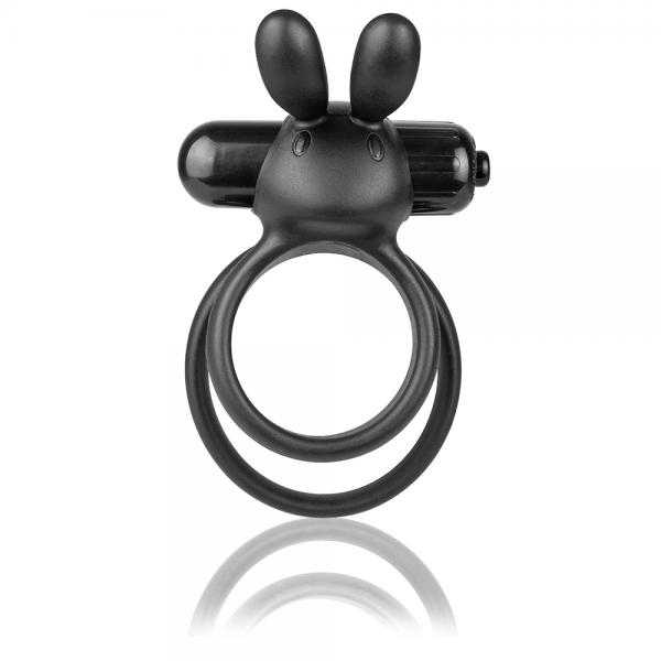 Ohare XL Vibrating Rabbit Double Ring Black