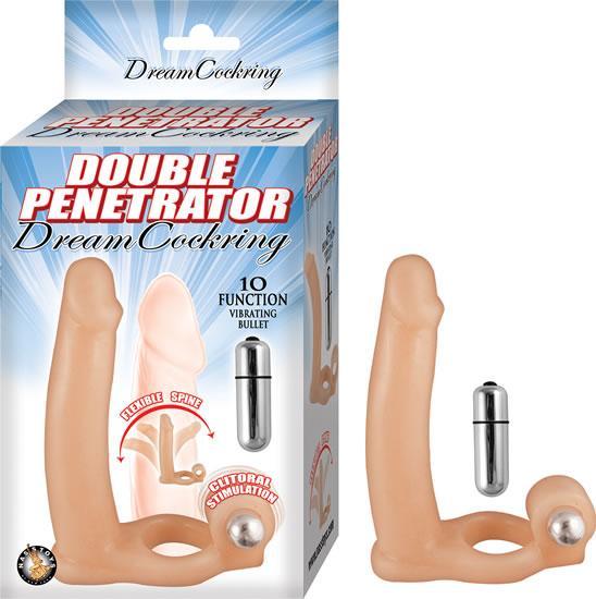 Double Penetrator Dream Cockring Beige