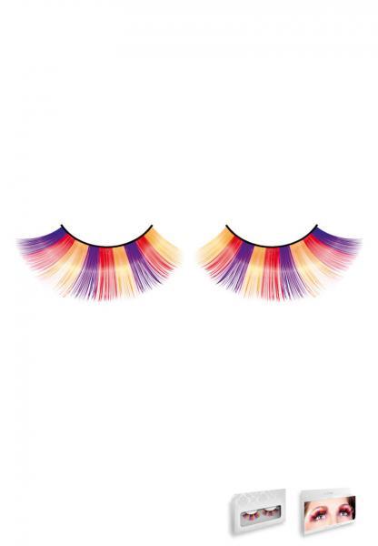 Purple Orange Yellow Glitter Eyelashes