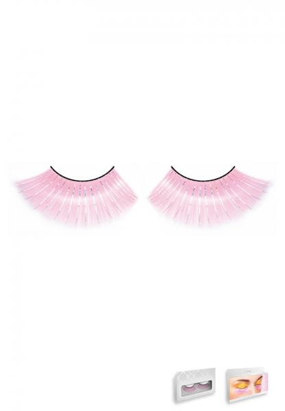 Pink Glitter Eyelashes Style 520