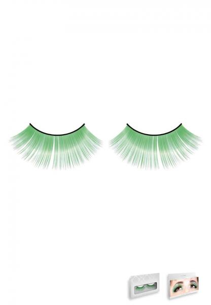 Light Green Glitter Eyelashes Style 522