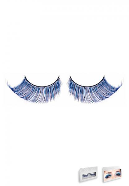 Light Blue Feather Eyelashes Style 534