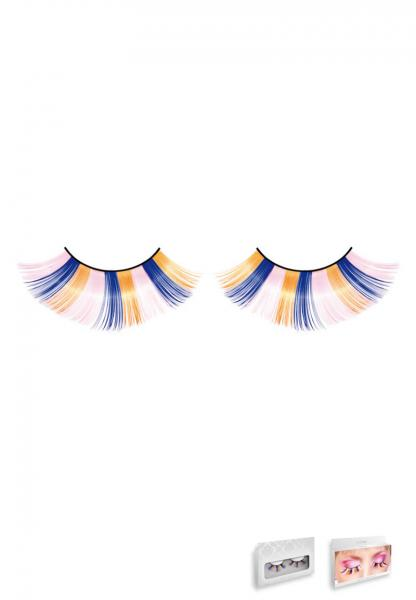 Pink Blue Yellow Glitter Eyelashes