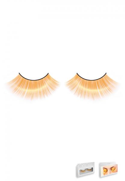 Orange Glitter Eyelashes Style 537