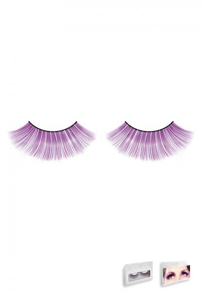 Purple Glitter Eyelashes Style 546