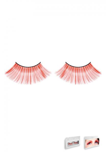 Red Glitter Eyelashes Style 554