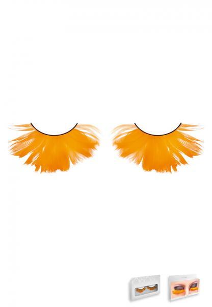 Orange Feather Eyelashes