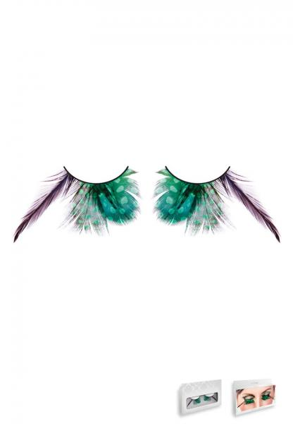Light Green Feather Eyelashes Style 610