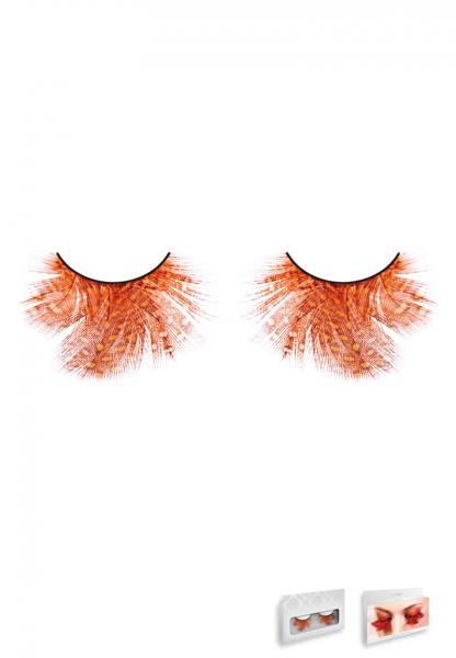 Orange Red Feather Eyelashes Style 617