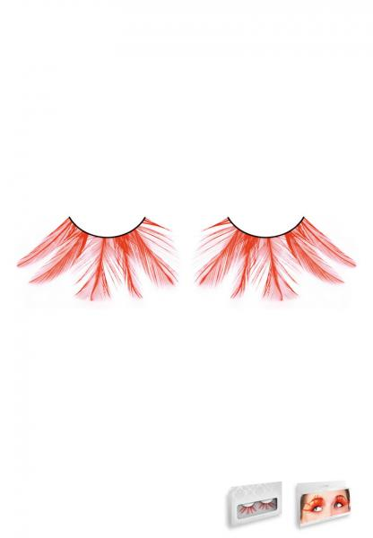 Red Feather Eyelashes Style 618