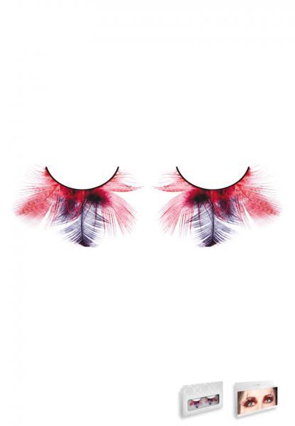 Red Purple Feather Eyelashes