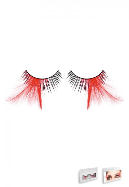 Black Red Feather Eyelashes Style 624