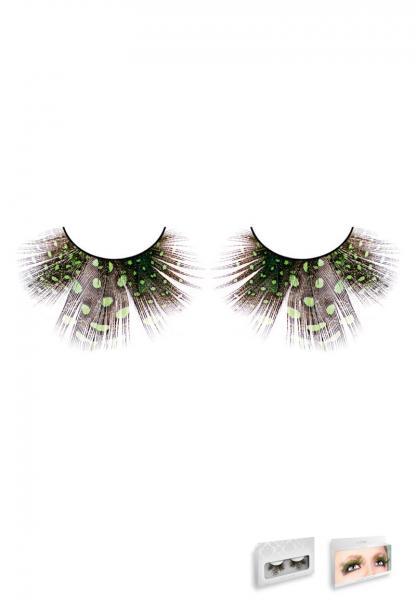 Light Green Feather Eyelashes
