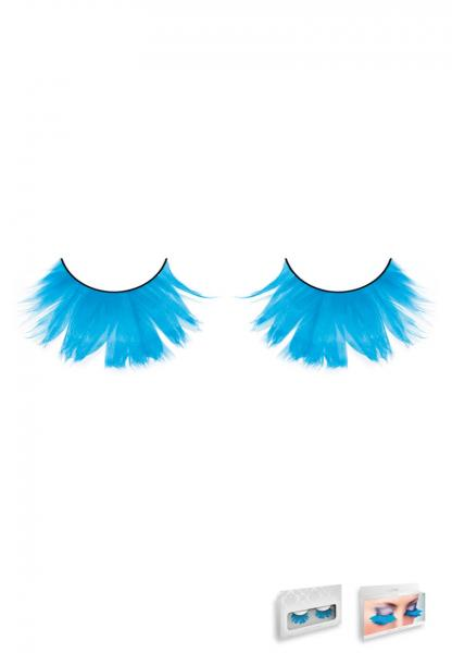 Light Blue Feather Eyelashes