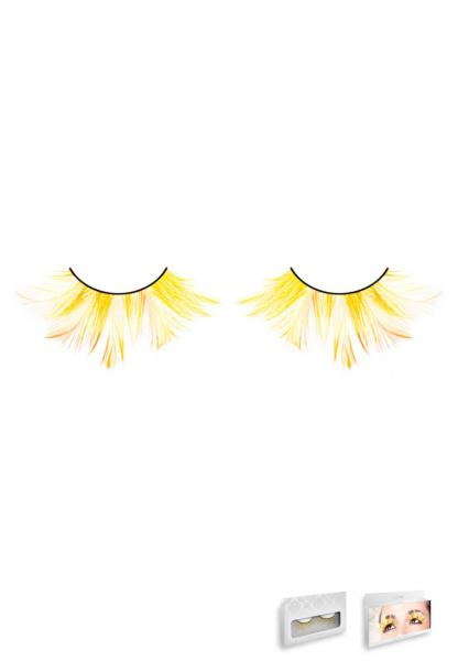 Yellow Feather Eyelashes