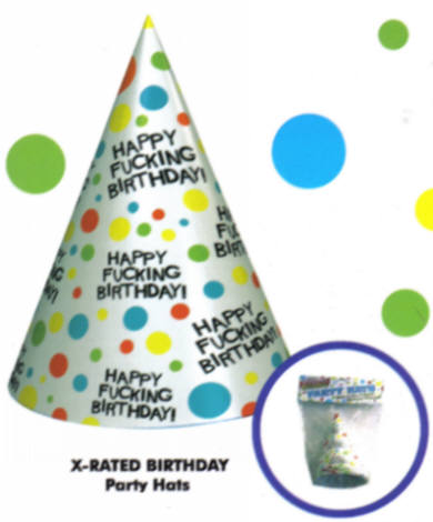 Happy Fucking Birthday Hats