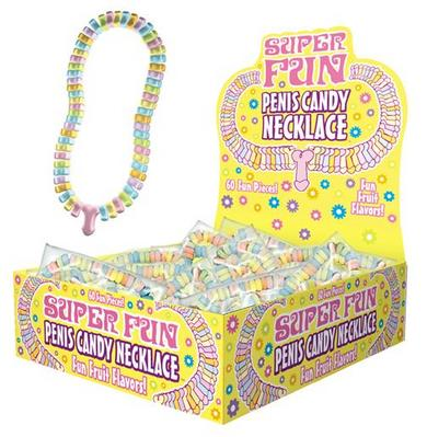 Candy Penis Necklace Display