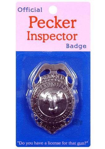Pecker Inspector Badge